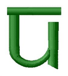 Hindi Alphabet U embroidery design