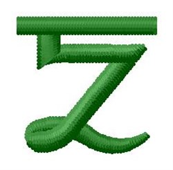 Hindi Alphabet Z embroidery design