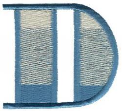 Ritz D embroidery design
