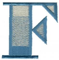 Ritz F embroidery design