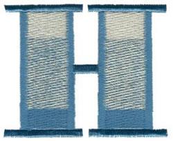 Ritz H embroidery design