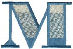 Ritz M embroidery design