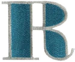 Ritz R embroidery design