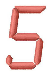 LCD Font 5 embroidery design