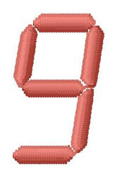 LCD Font 9 embroidery design