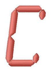 LCD Font C embroidery design