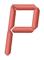 LCD Font P embroidery design