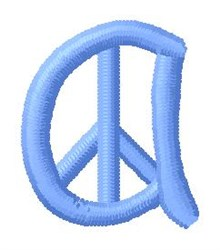 Blue Peace a embroidery design