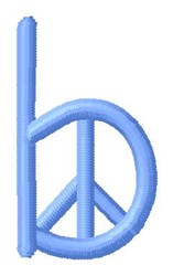 Blue Peace b embroidery design