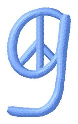 Blue Peace g embroidery design