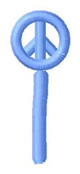 Blue Peace i embroidery design
