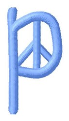 Blue Peace p embroidery design
