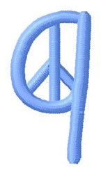 Blue Peace q embroidery design