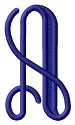 Vine Monogram A embroidery design