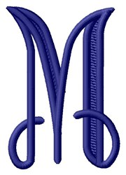 Vine Monogram M embroidery design
