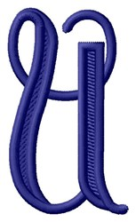 Vine Monogram U embroidery design