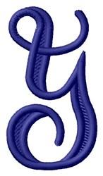 Vine Monogram Y embroidery design