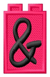 Building Toy Ampersand embroidery design
