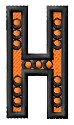 Construction Toy H embroidery design