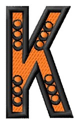 Construction Toy K embroidery design
