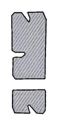 Stone Font Exclamation embroidery design