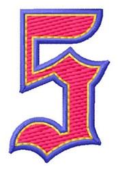 Baseball Font 5 embroidery design