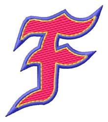 Baseball Font F embroidery design