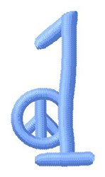 Blue Peace 1 embroidery design