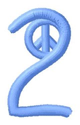 Blue Peace 2 embroidery design