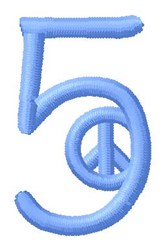 Blue Peace 5 embroidery design