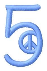 Blue Peace 5 embroidery design