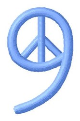 Blue Peace 9 embroidery design