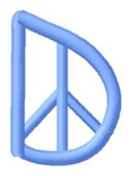 Blue Peace D embroidery design