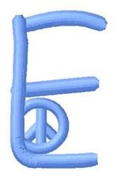 Blue Peace E embroidery design