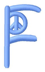 Blue Peace F embroidery design