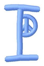 Blue Peace I embroidery design