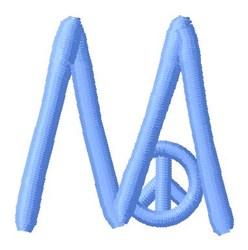 Blue Peace M embroidery design
