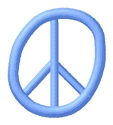 Blue Peace O embroidery design