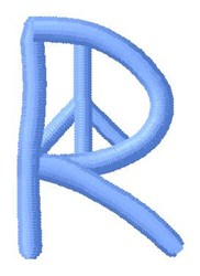 Blue Peace R embroidery design