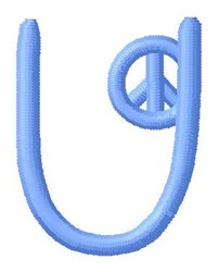 Blue Peace U embroidery design