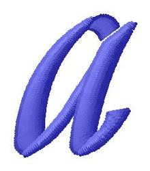 Ribbon Lower Case a embroidery design