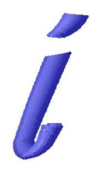 Ribbon Lower Case i embroidery design