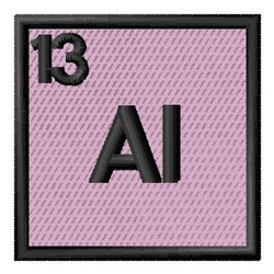 Atomic Number 13 embroidery design