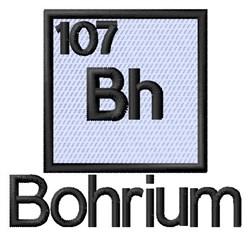 Bohrium embroidery design