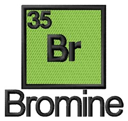 Bromine embroidery design