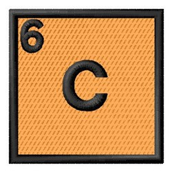 Atomic Number 6 embroidery design