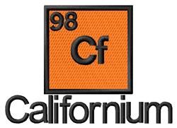 Californium embroidery design