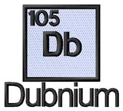 Dubnium embroidery design