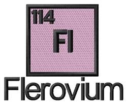 Flerovium embroidery design