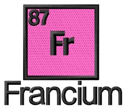 Francium embroidery design